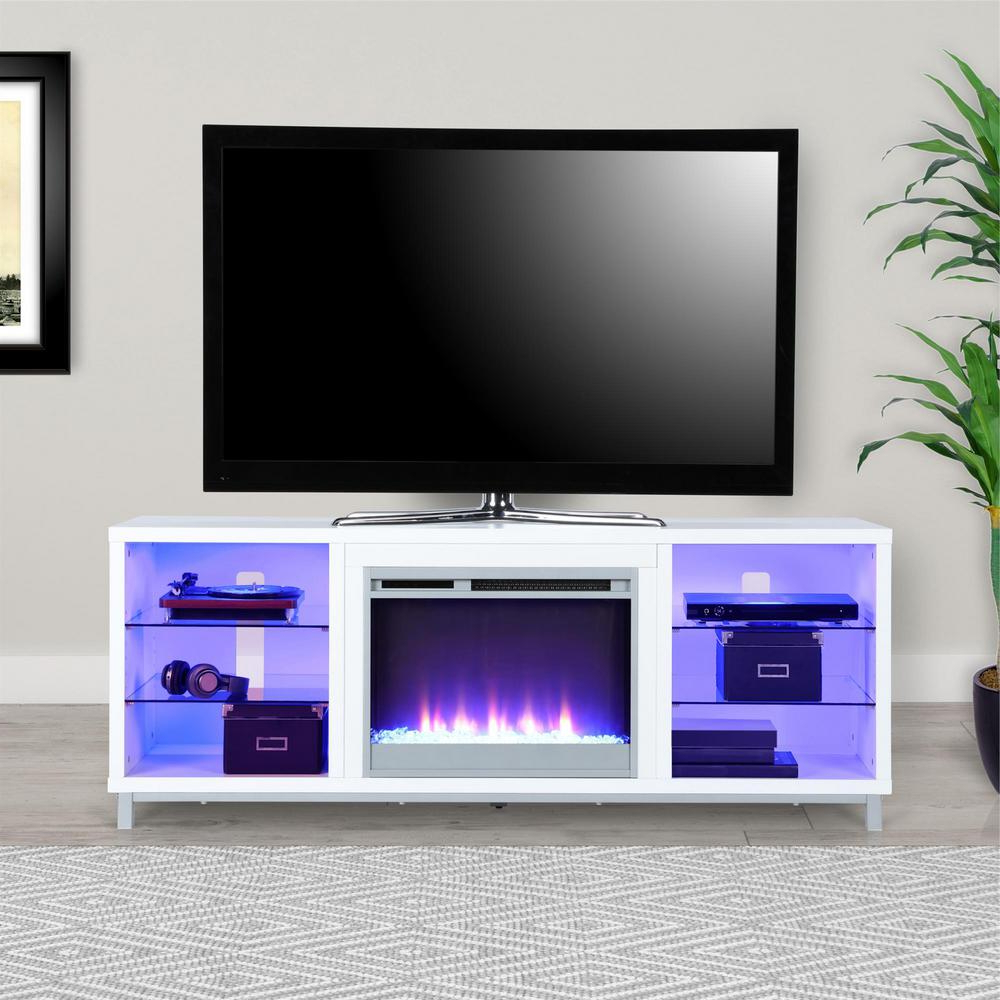 White Tv Stands Regarding Newest 70 In (View 17 of 20)