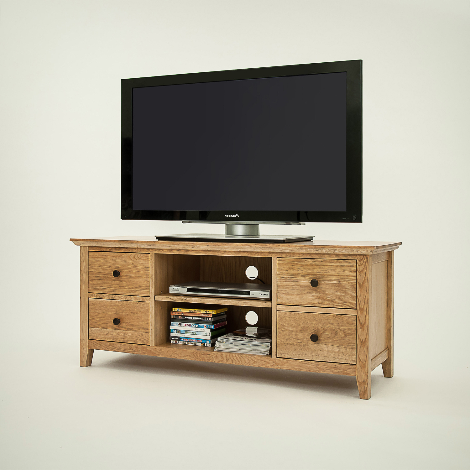 Wide Oak Tv Units Throughout Preferred Hereford Rustic Oak Wide Tv Unit – Cw Furniture (View 18 of 20)
