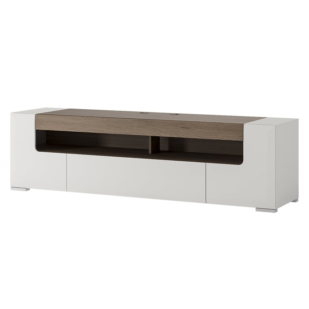 Wide Oak Tv Units With Best And Newest Furniture To Go Toronto White & San Remo Oak Inset Tv Unit (View 19 of 20)