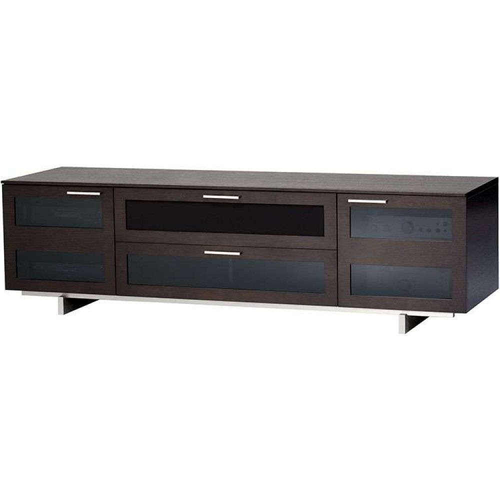 Wide Retro Rustic Dark Wooden Storage Media Furniture Inside Trendy Wide Tv Cabinets (View 8 of 20)