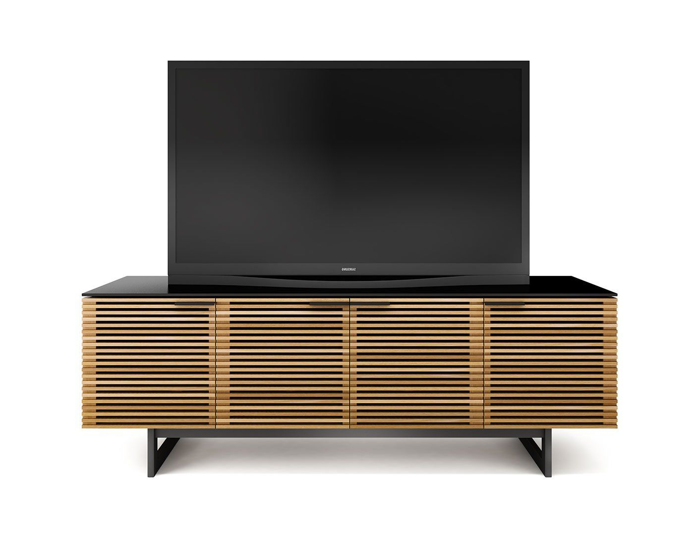 Wide Tv Cabinets Pertaining To Most Current Bdi Corridor 8179 Quad Wide Tv Cabinet (White Oak) In 2018 (Gallery 16 of 20)