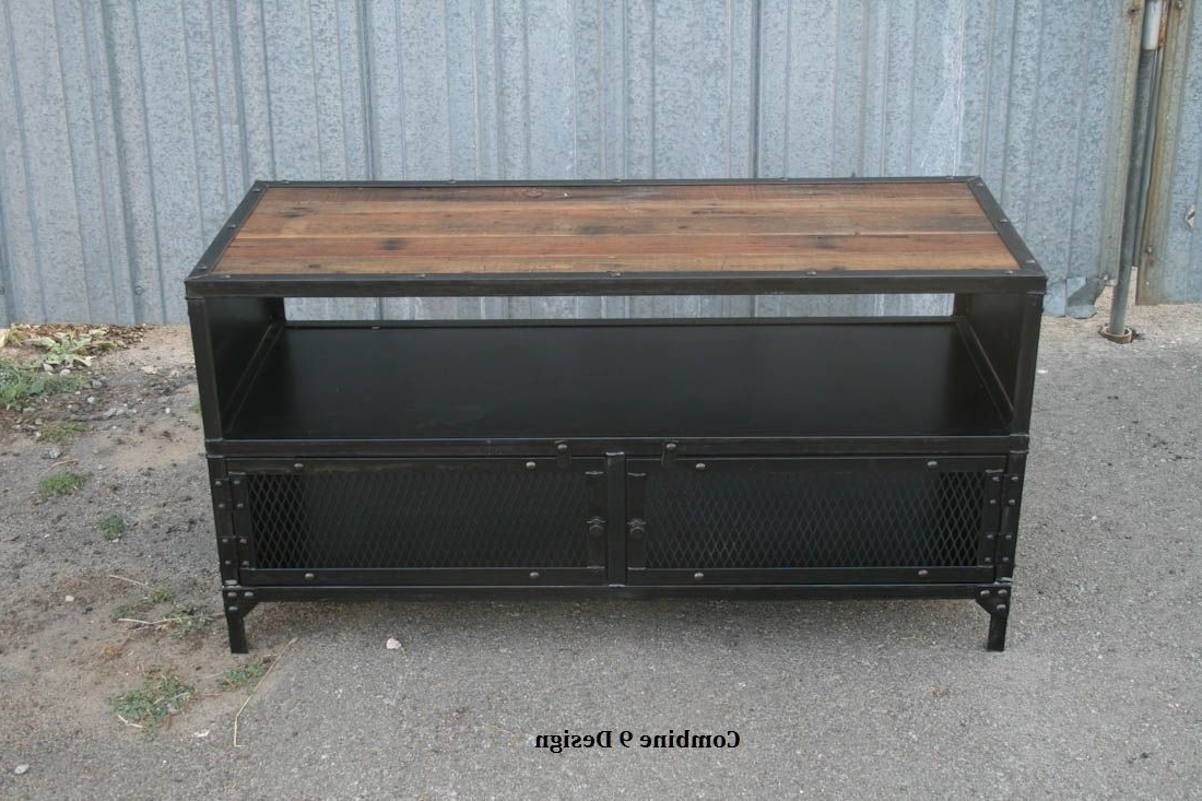 Widely Used Buy A Hand Made Vintage Industrial Tv Stand (View 4 of 20)