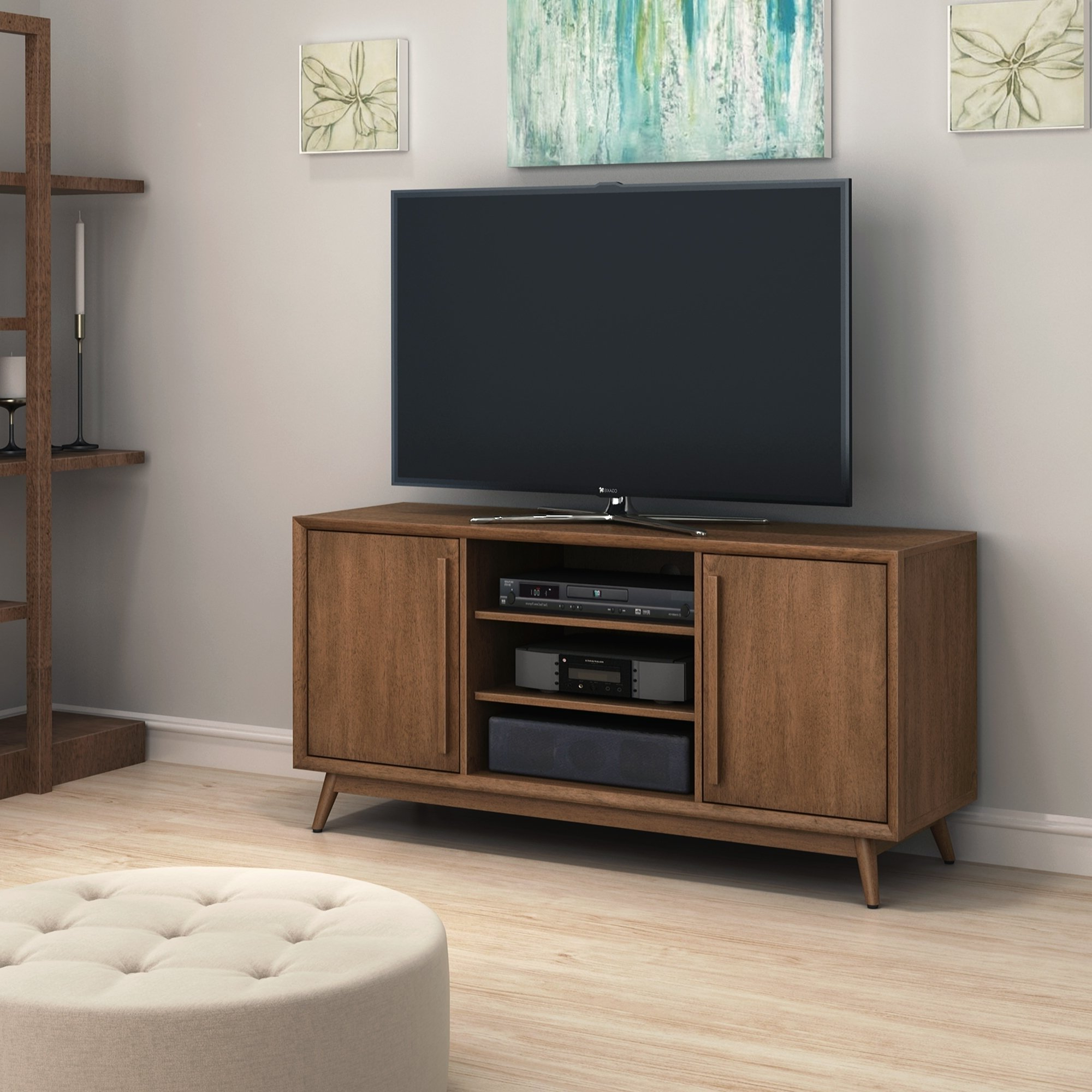 Widely Used Canyon 54 Inch Tv Stands For Shop Leawood Tv Stand For Tvs Up To 60 Inches, Broadwalk Birch (View 13 of 20)
