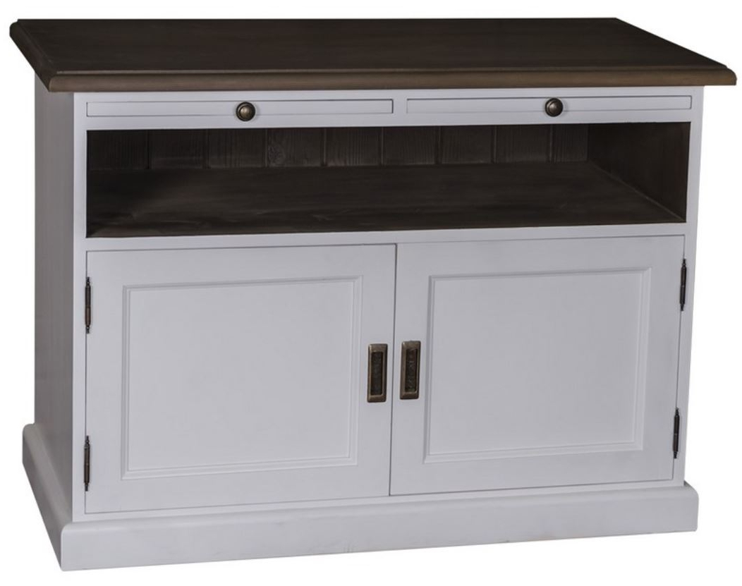 Widely Used Casa Padrino Country Style Tv Sideboard White / Black 180 X 46 X H Inside Country Style Tv Cabinets (View 20 of 20)