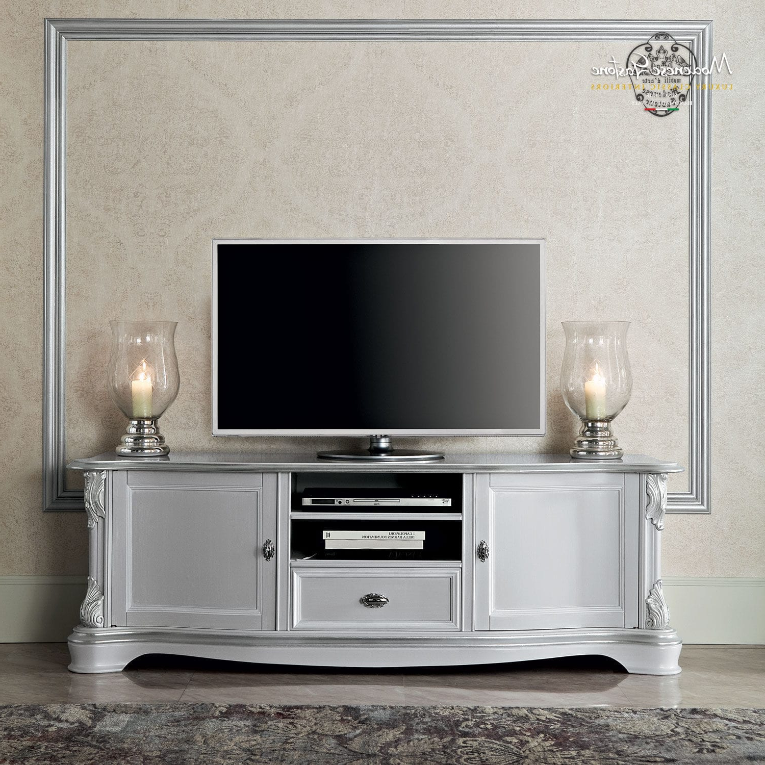 Widely Used Classic Tv Stands With Classic Tv Cabinet / Solid Wood – Bella Vita – Modenese Gastone (View 20 of 20)