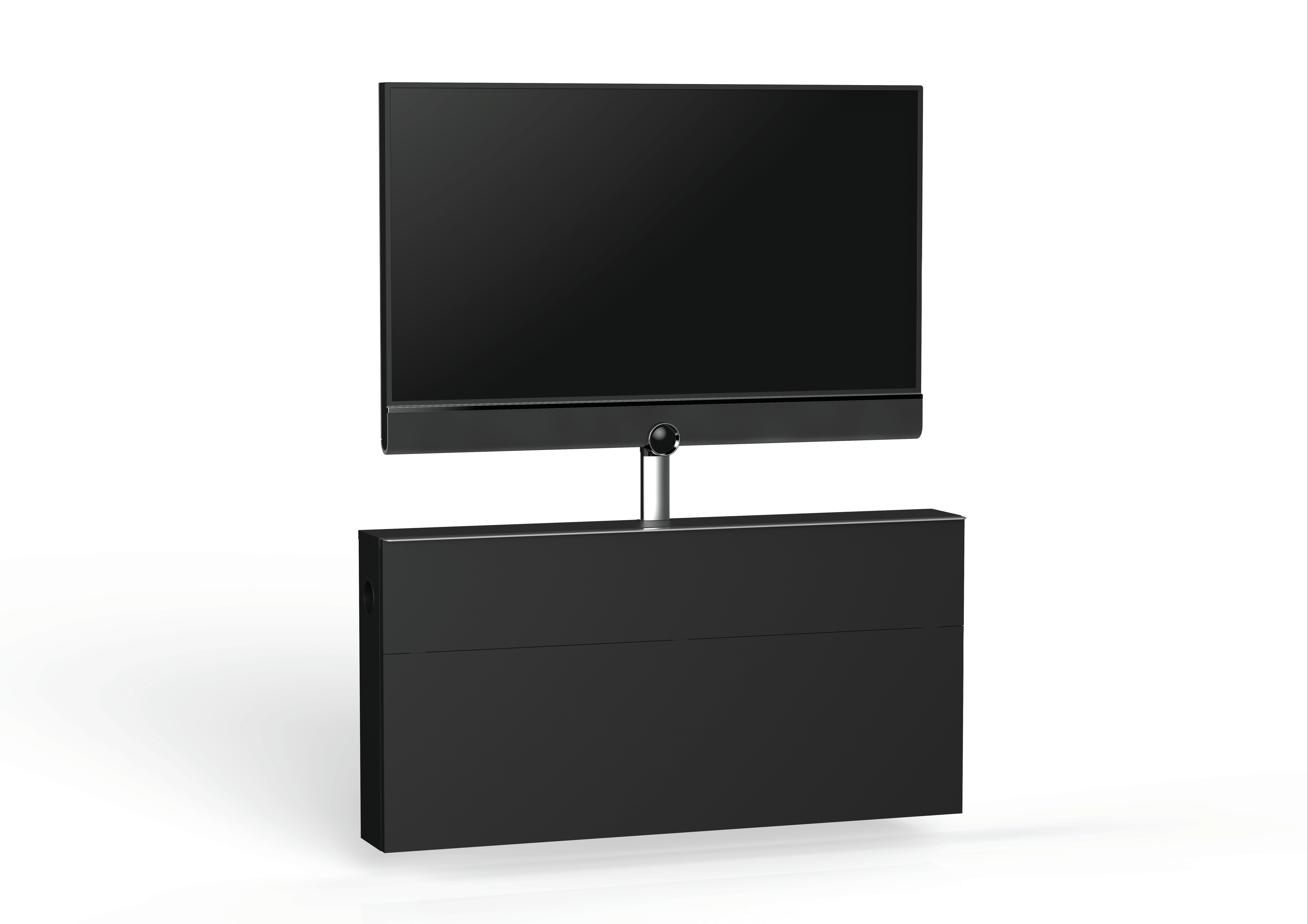 Widely Used Connected Essentials Ltd Slimline Space Saving Tv Stand For Tvs Up Regarding Slimline Tv Stands (View 14 of 20)