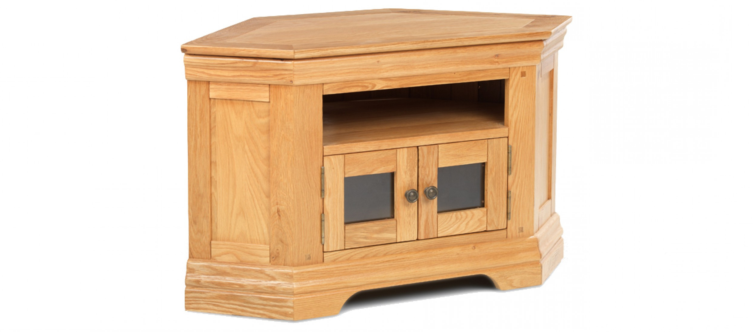 Widely Used Constance Oak Corner Tv Cabinet (View 4 of 20)