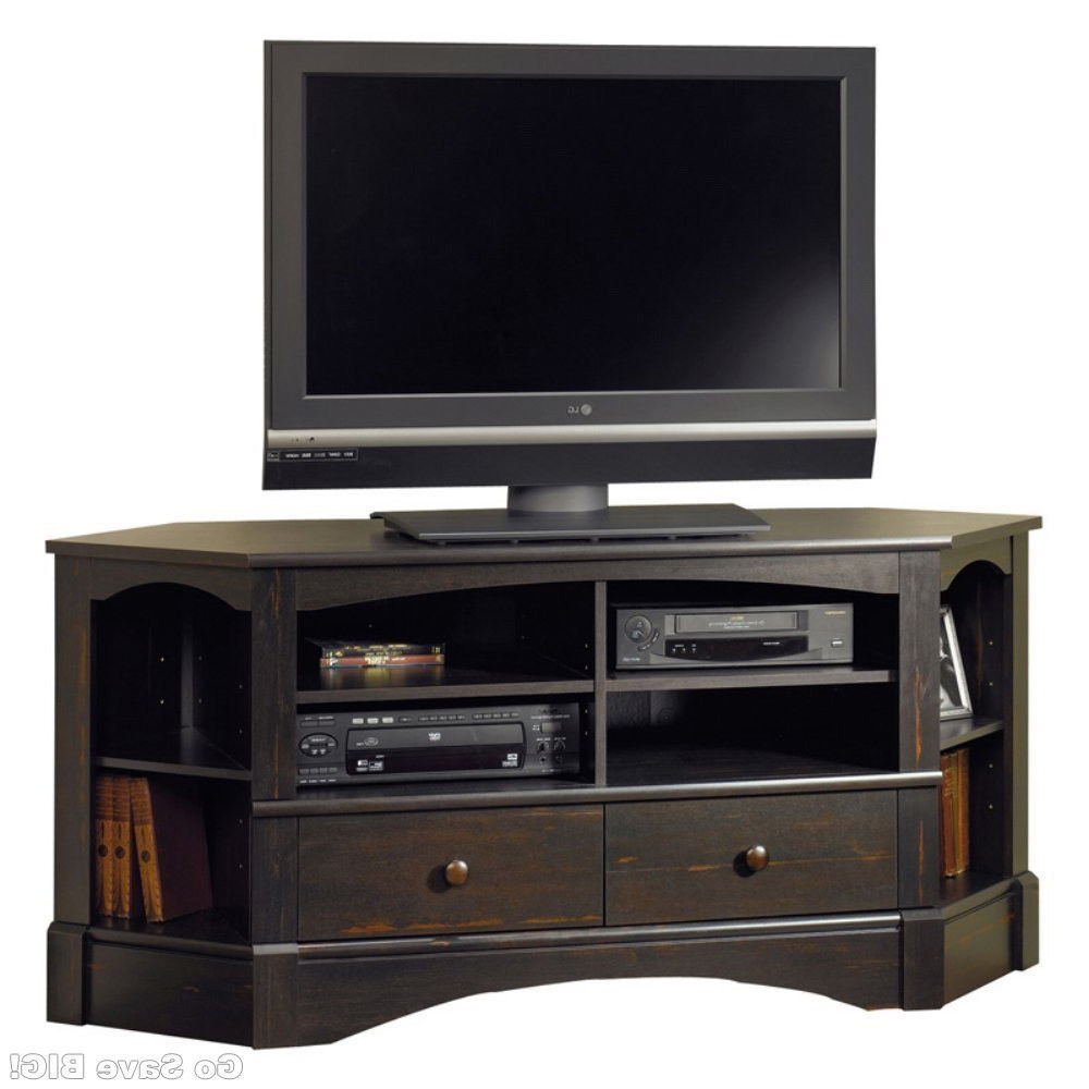 Widely Used Corner 60 Inch Tv Stands With Regard To Sauder Corner Tv Stand 60 Inch Console Table Television 3 Shelf (View 20 of 20)
