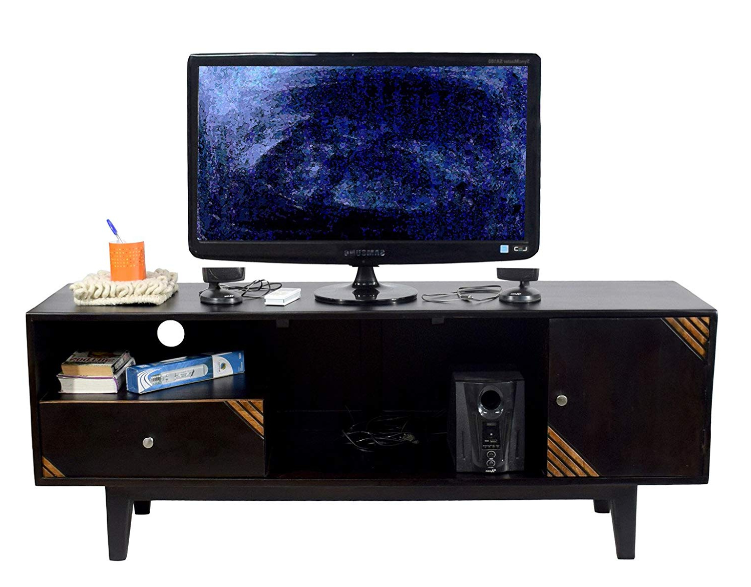 Widely Used Daintree Tv Stands Inside Daintree Shaby Tv Unit Cabinet (Lacquer Finish, Walnut And Natural (Gallery 10 of 20)