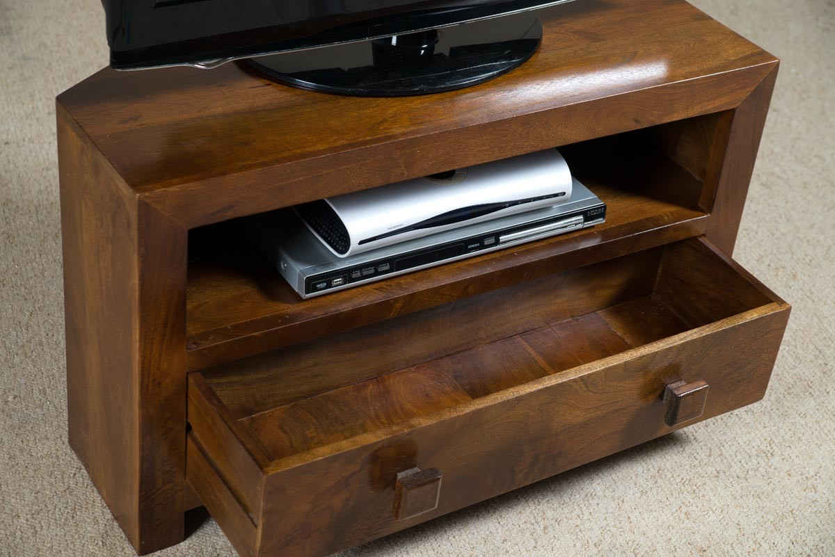 Widely Used Dakota Mango Small Corner Tv Stand Casa Bella Furniture Uk 2 Light Throughout Mango Tv Stands (View 15 of 20)