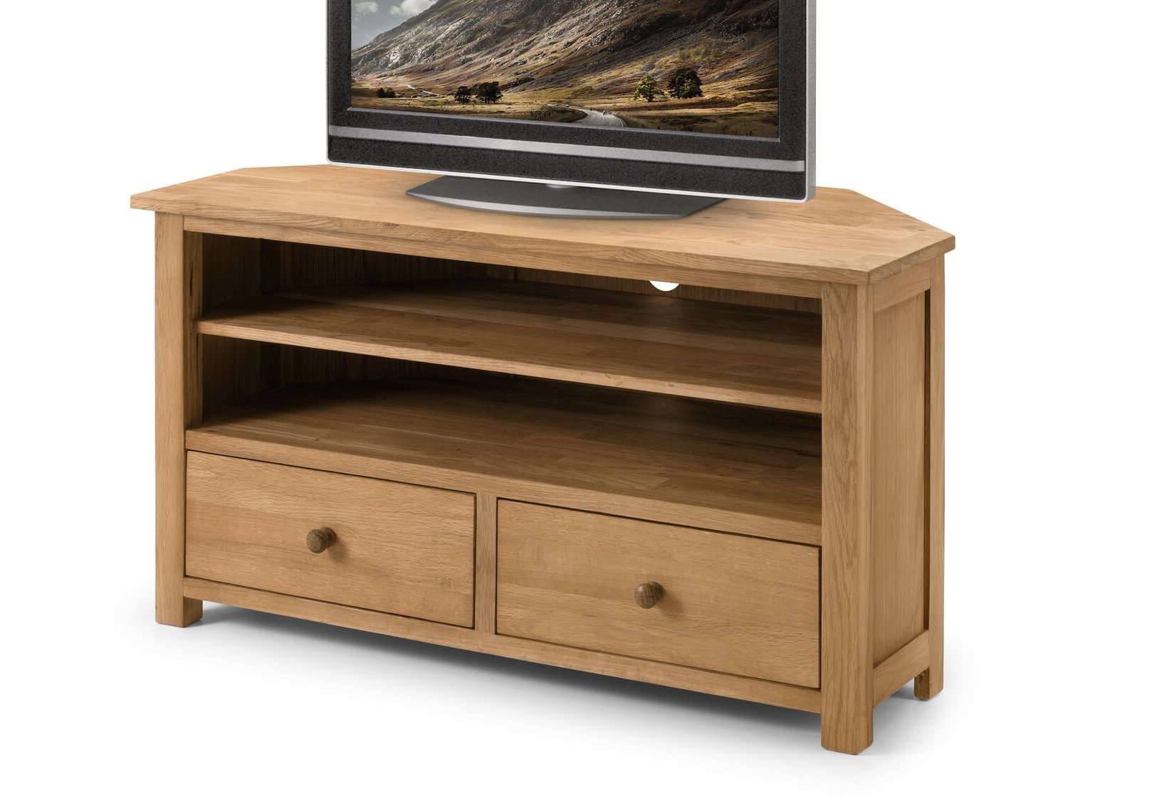 Widely Used Dark Oak Corner Tv Unit (View 7 of 20)