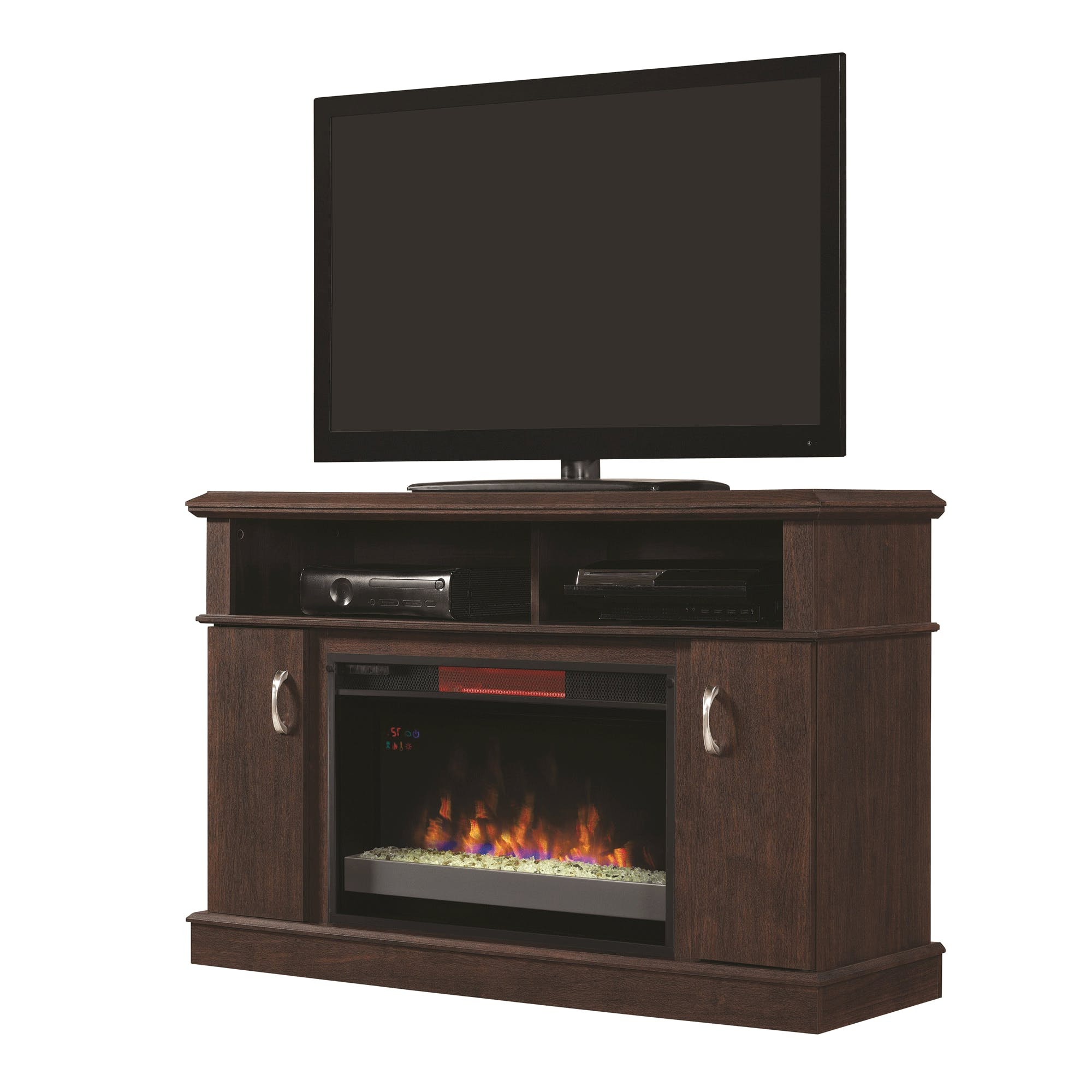 """Widely Used Dwell Tv Stands Pertaining To Dwell Tv Stand For Tvs Up To 50"""" With 26"""" Infrared Quartz Fireplace (View 7 of 20)"""