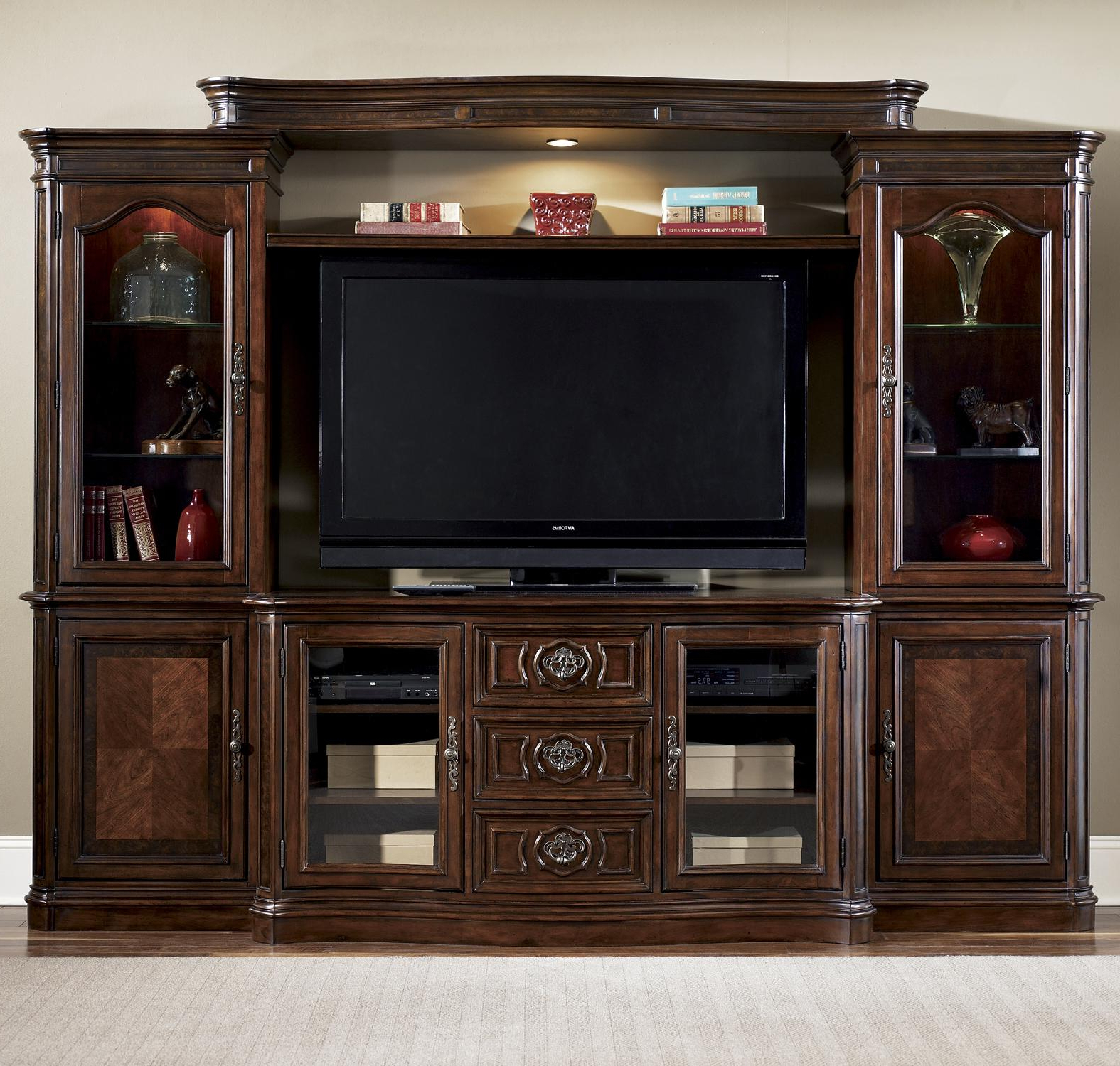 Widely Used Entertainment Center Wall Unitliberty Furniture (View 10 of 20)