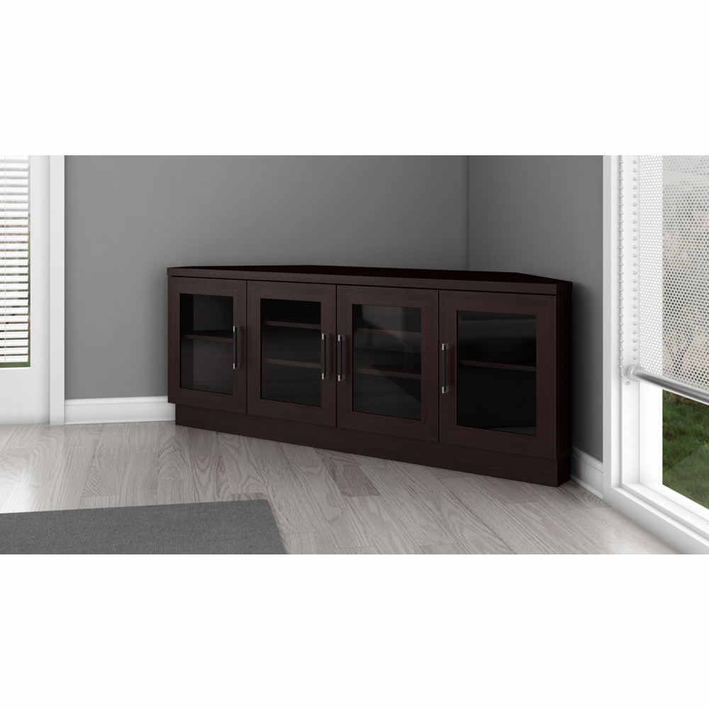 """Widely Used Furnitech – 60"""" Contemporary Corner Tv Stand Media Console For Flat Throughout Contemporary Tv Stands For Flat Screens (View 11 of 20)"""