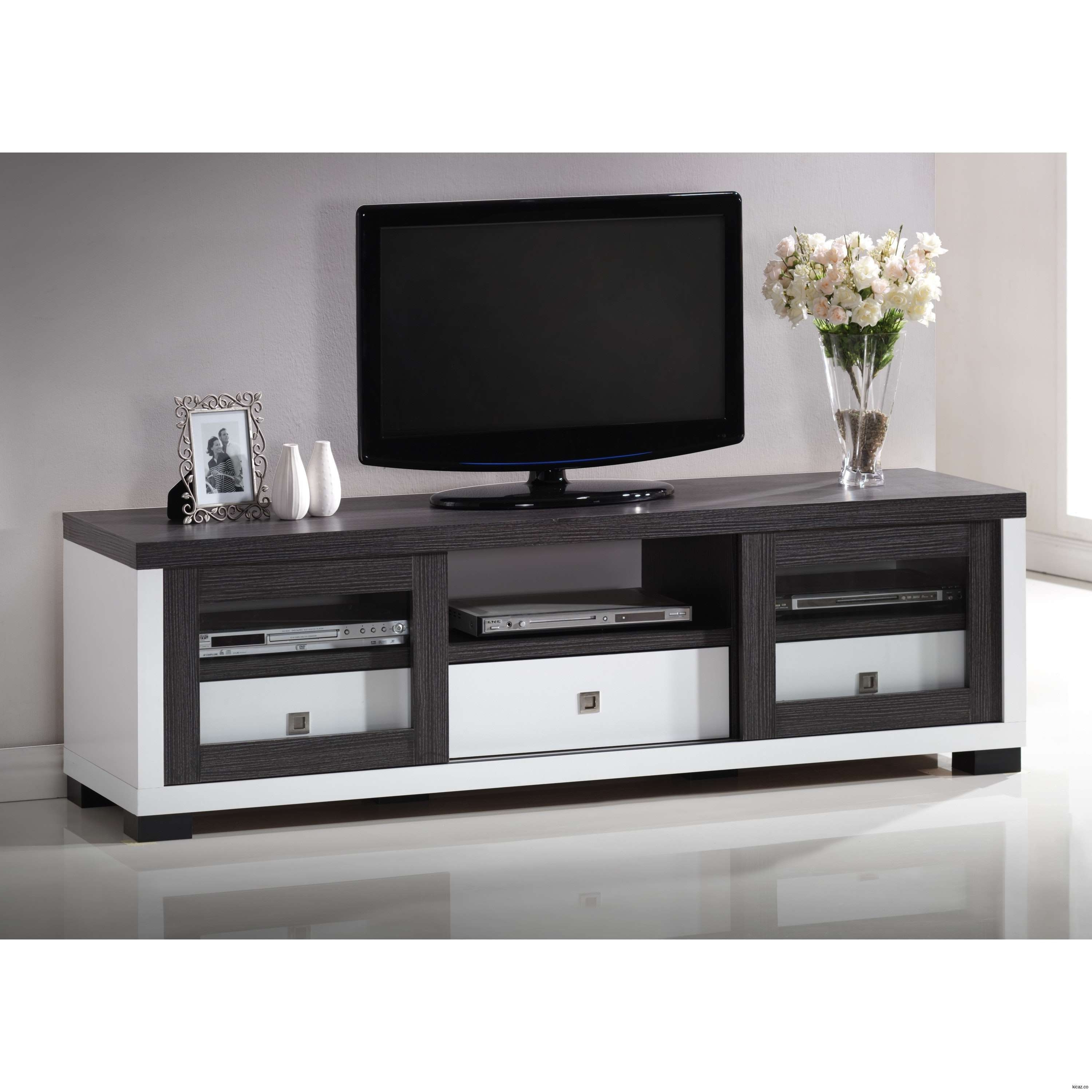 Widely Used Furniture Accessories : Large Black White Wooden Ikea Tv Stand With Throughout Long Tv Stands Furniture (View 19 of 20)