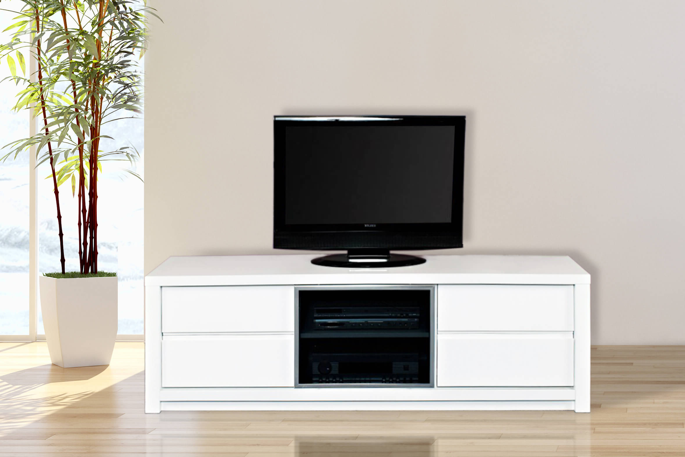 Widely Used Gloss White Tv Unit (View 8 of 20)