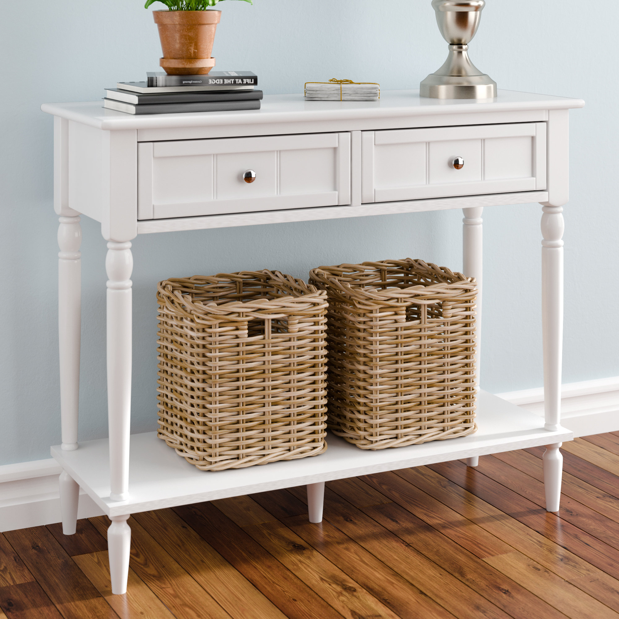 Widely Used Hand Carved White Wash Console Tables Pertaining To White Washed Console Table (View 15 of 20)