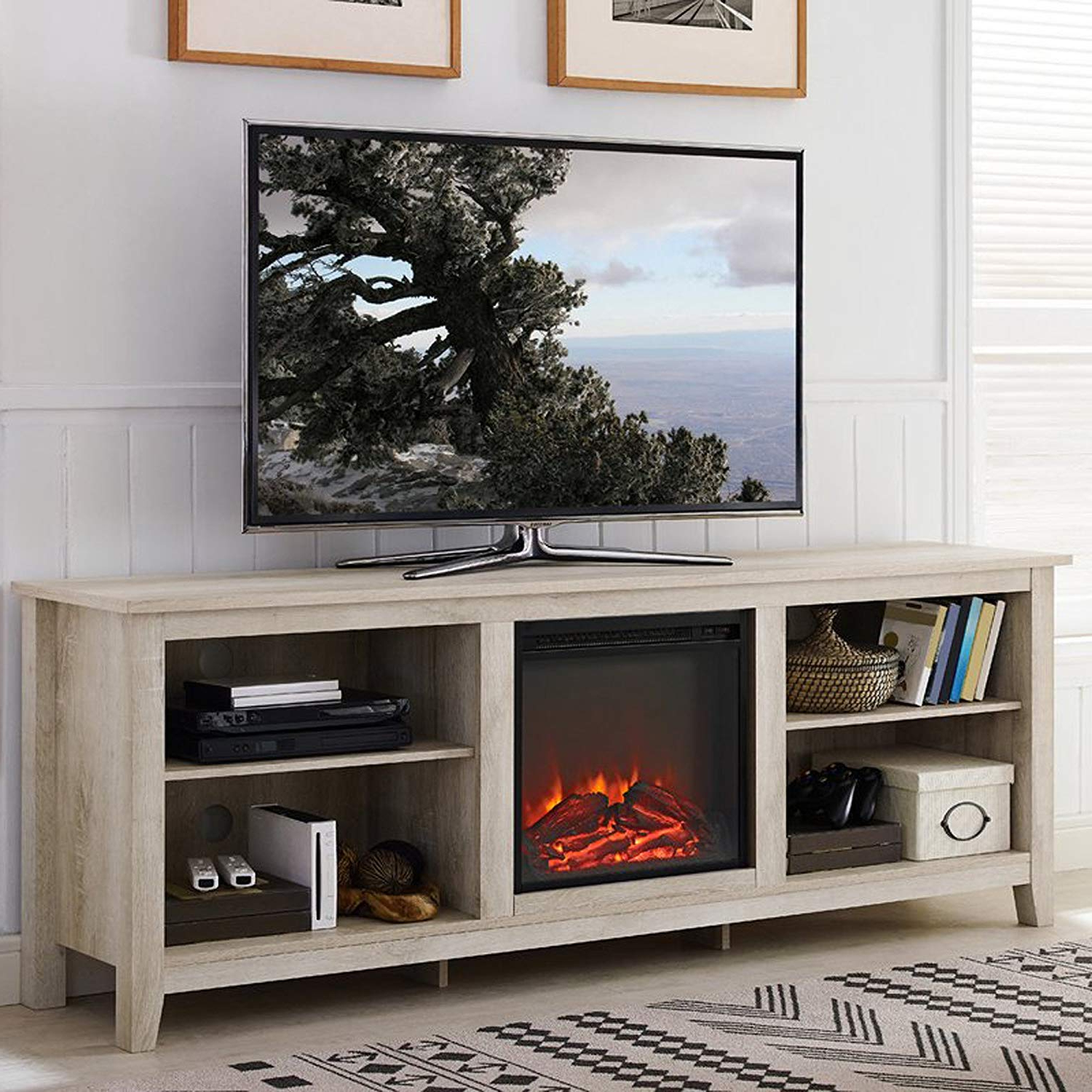 Widely Used Kilian Grey 74 Inch Tv Stands Within Amazon: Electric Fireplace Tv Stand For Tvs Up To (View 20 of 20)