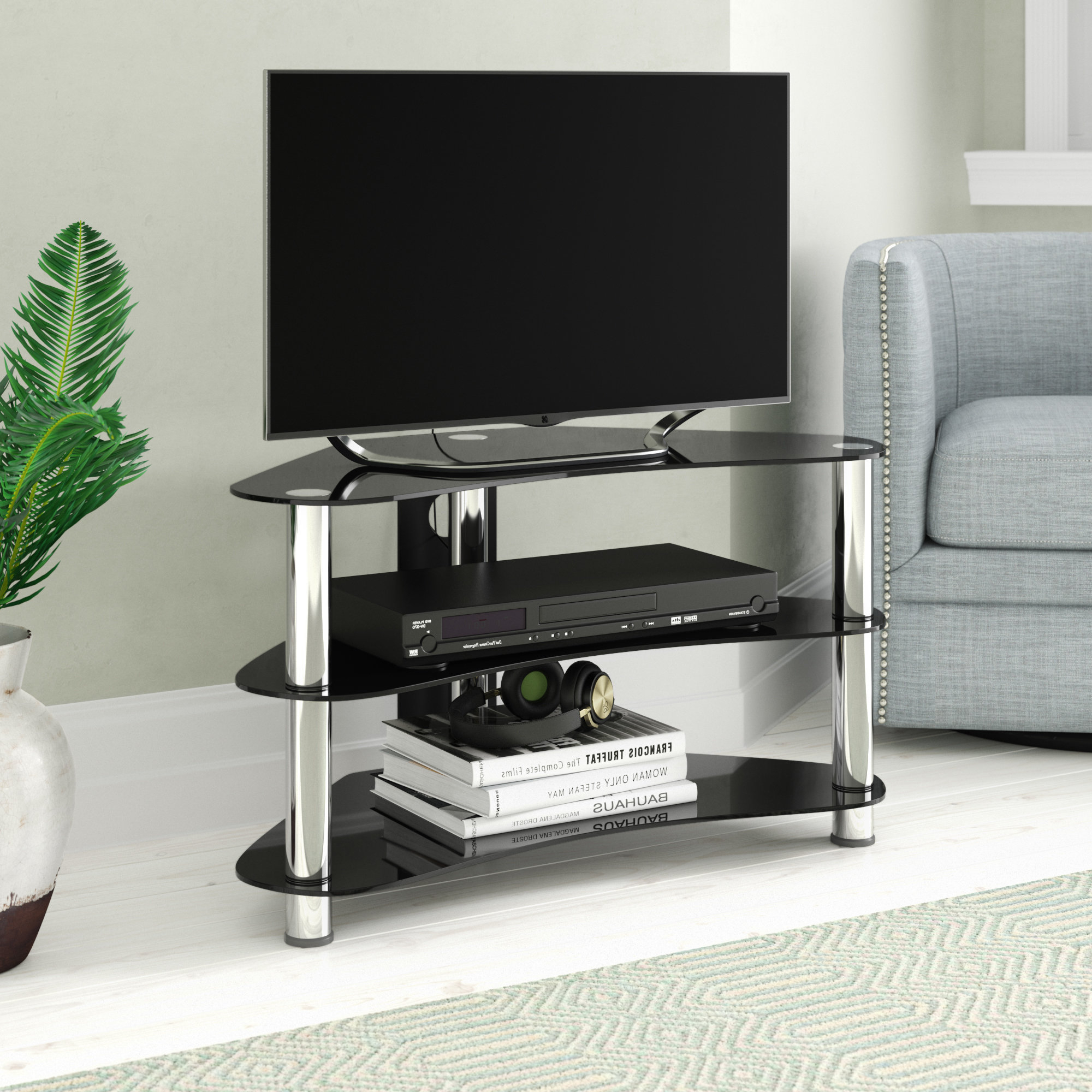 Widely Used Metal Frame Tv Stands & Entertainment Units You'll Love (View 5 of 20)