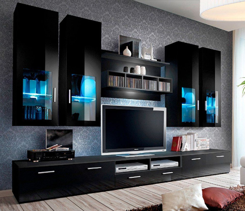 Widely Used Modern Tv Entertainment Centers Within Modern Tv Room Designs Ideas With Presto Modern Wall Unit (View 20 of 20)