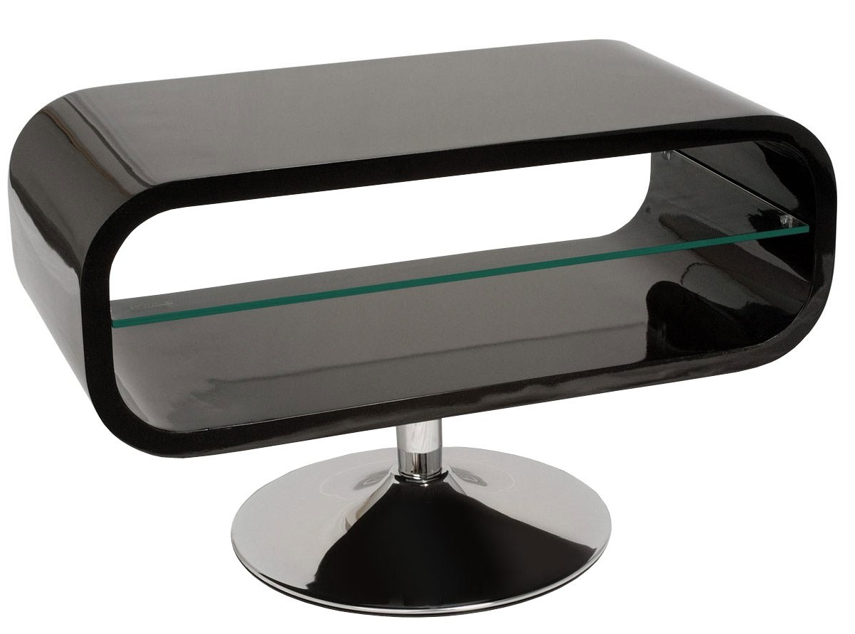 Widely Used Ovid White Tv Stands Within Ovid Tv Stands Black (View 7 of 20)