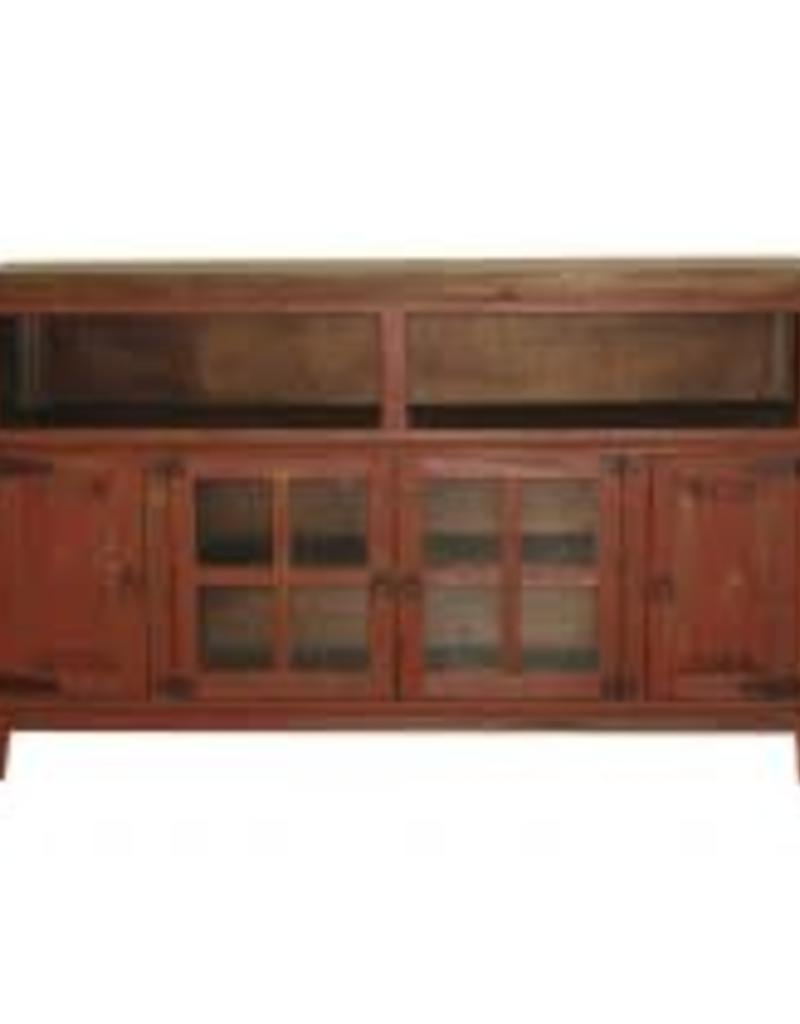 "Widely Used Rustic Red Tv Stands Within Mr Com 8g Hacienda 72"" Tv Stand Antique Red – R&b Furniture (View 12 of 20)"