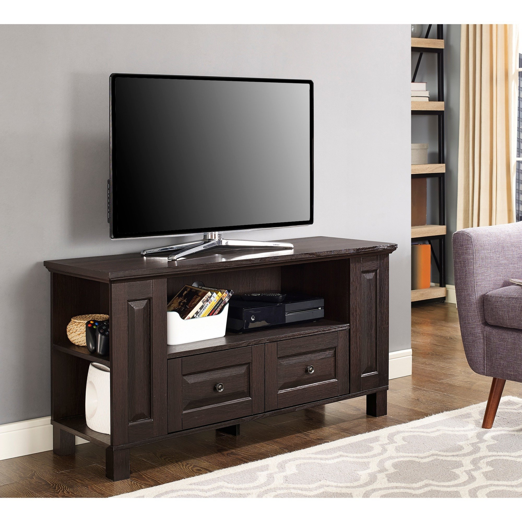 "Widely Used Shop 44"" Tv Stand Storage Console – Espresso – 44 X 16 X 23H – Free With Regard To Storage Tv Stands (View 19 of 20)"
