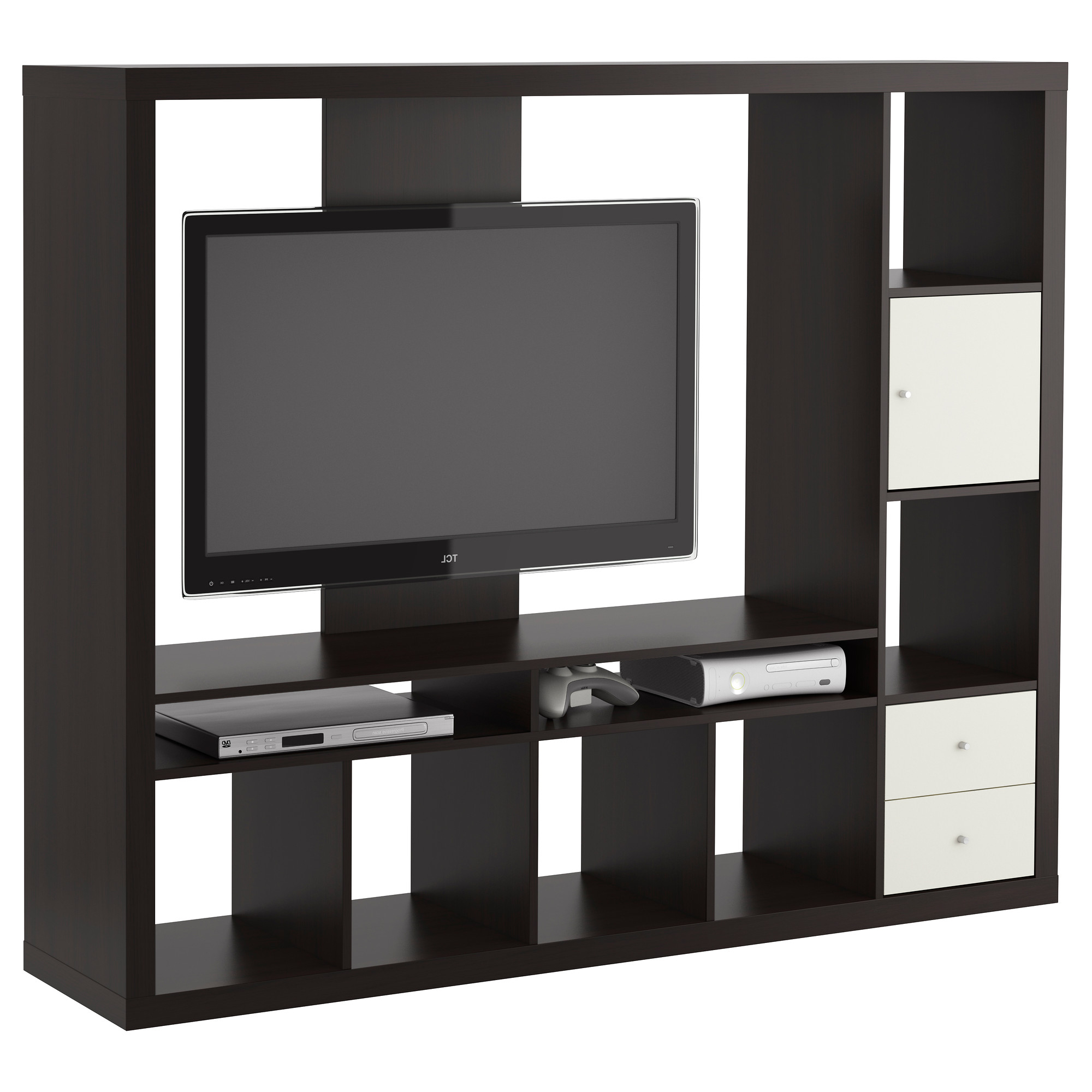 Widely Used Square Tv Stands Regarding Double Glass Doors On Ikea Tv Tv Stands Ikea For Rectangle Black (View 7 of 20)