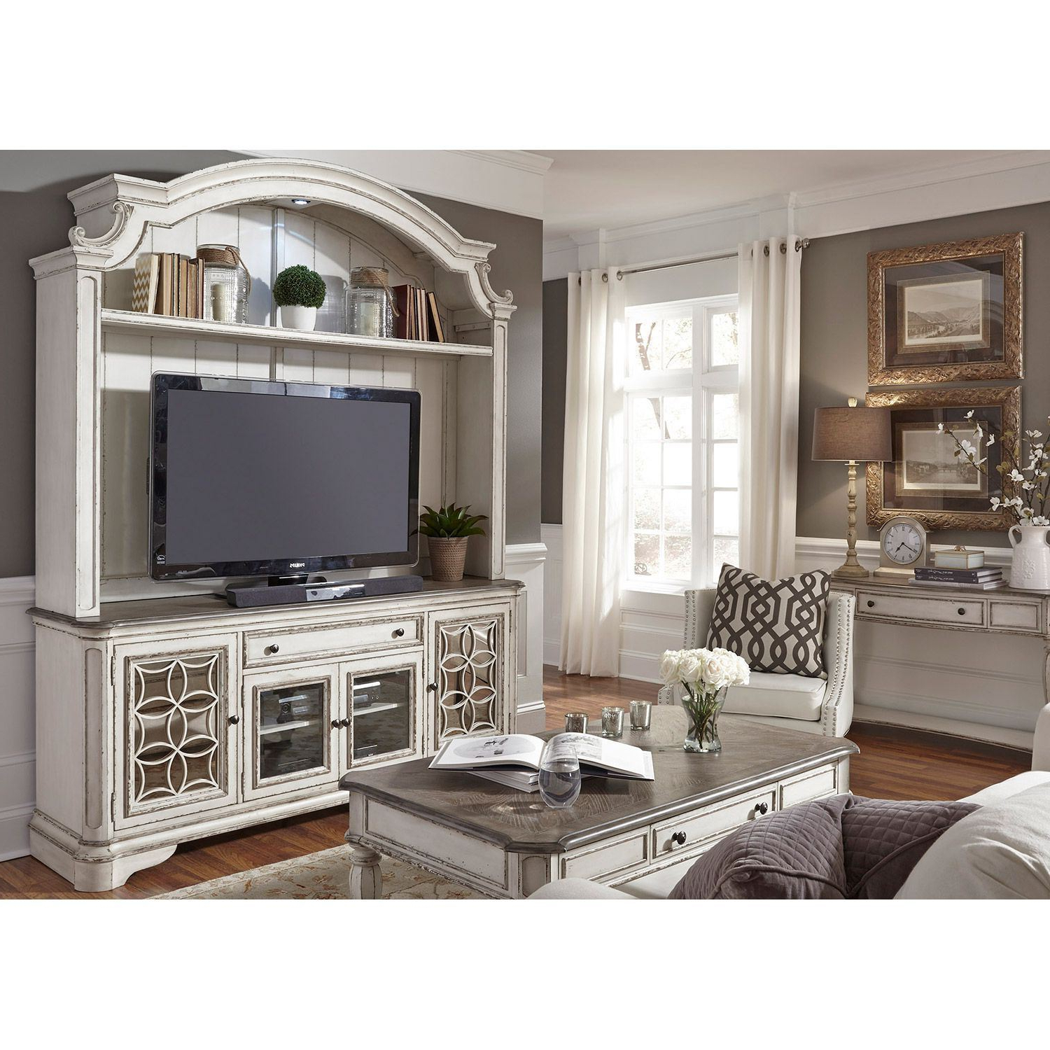 Widely Used Tv Hutch Cabinets With Magnolia Manor Tv Stand With Hutch (View 17 of 20)