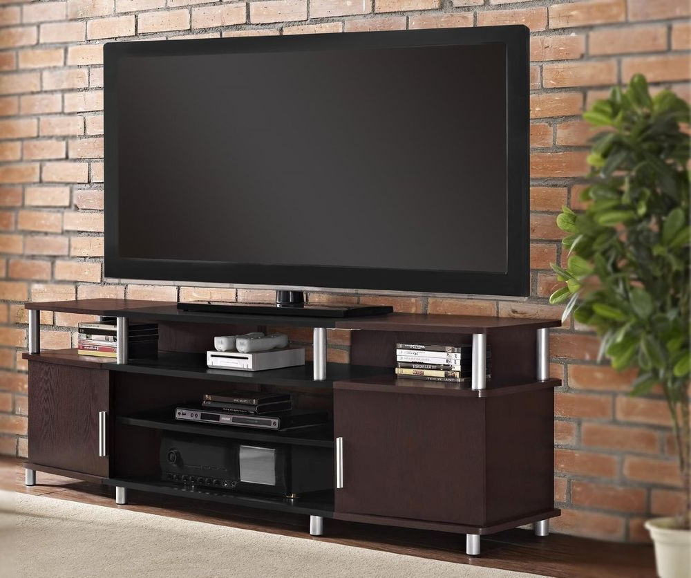 Widely Used Tv Stand Console Extra Long Cabinet Media Center Shelf Storage Intended For Extra Long Tv Stands (View 20 of 20)