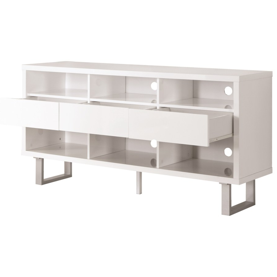 Widely Used Tv Stands Contemporary Tv Stand With Glossy White Finish – Omni Inside Glossy White Tv Stands (View 18 of 20)