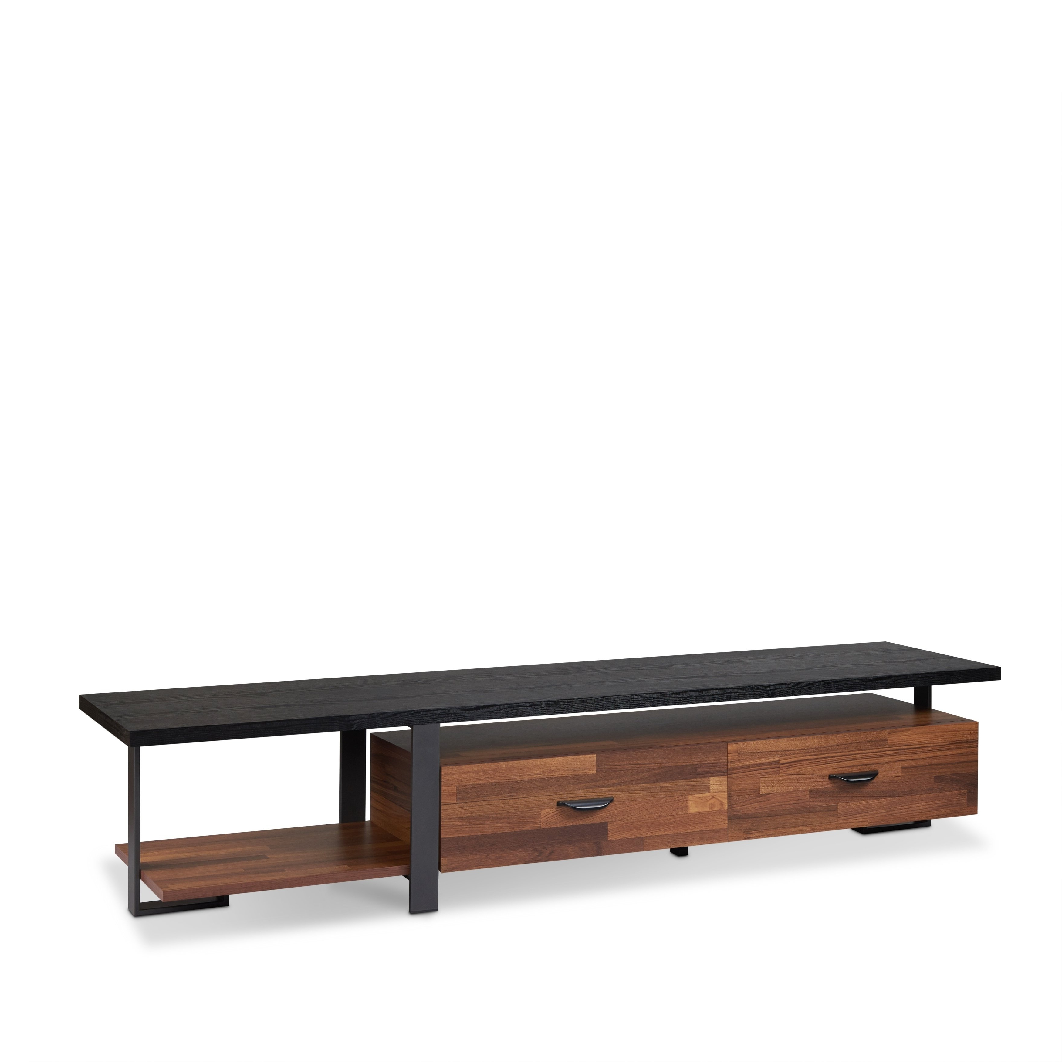 Widely Used Walnut Tv Cabinets With Doors Pertaining To Shop Acme Elling Black Walnut Tv Stand – Free Shipping Today (View 19 of 20)