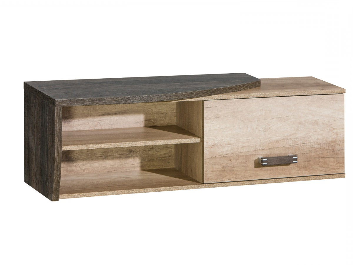Widely Used Wenge Tv Cabinets Pertaining To Tv Cabinet Oak Canyon / Arusha Wenge, 91,30 € (View 12 of 20)