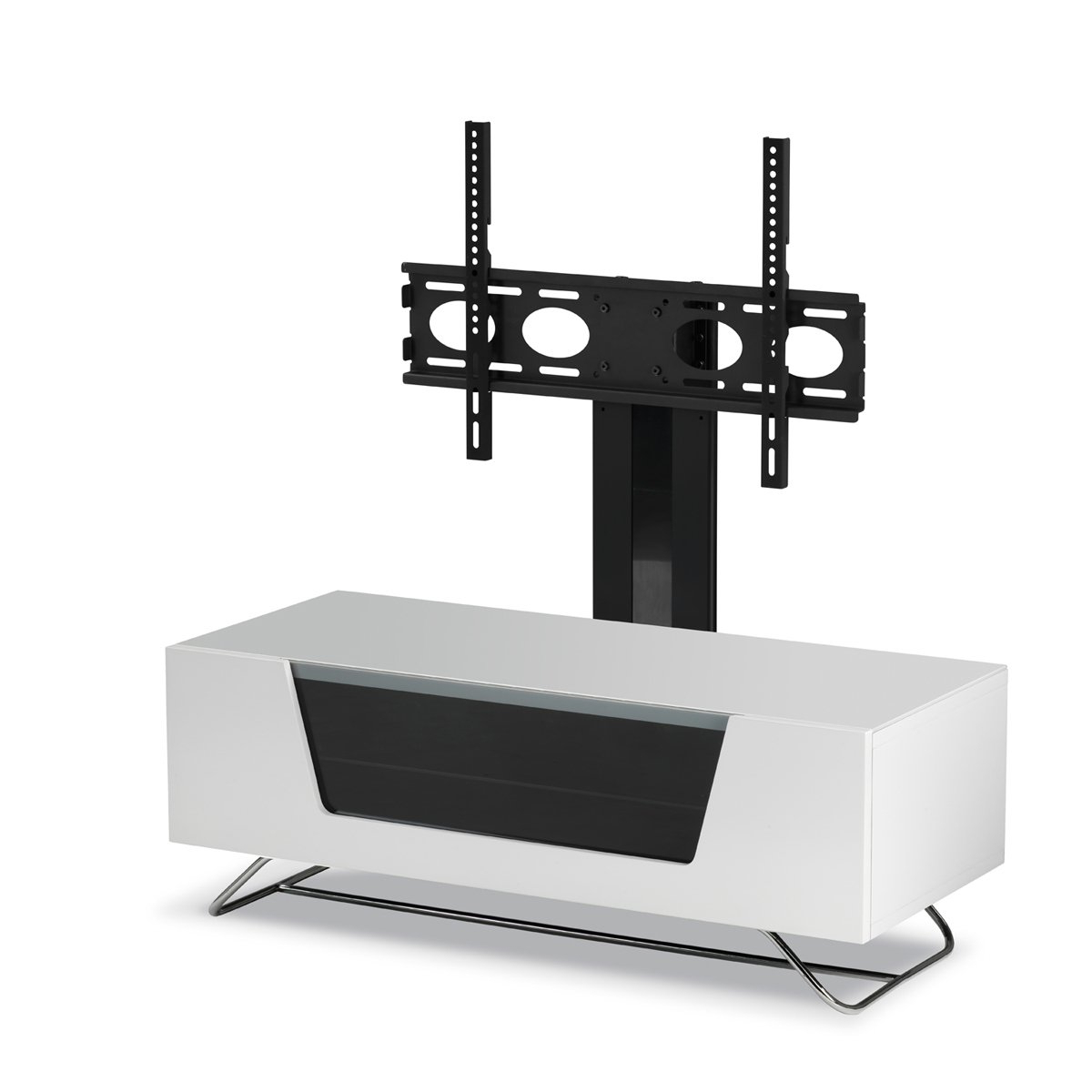 Widely Used White Cantilever Tv Stands Inside Alphason Chromium White Cantilever Tv Stand: Amazon.co (View 4 of 20)
