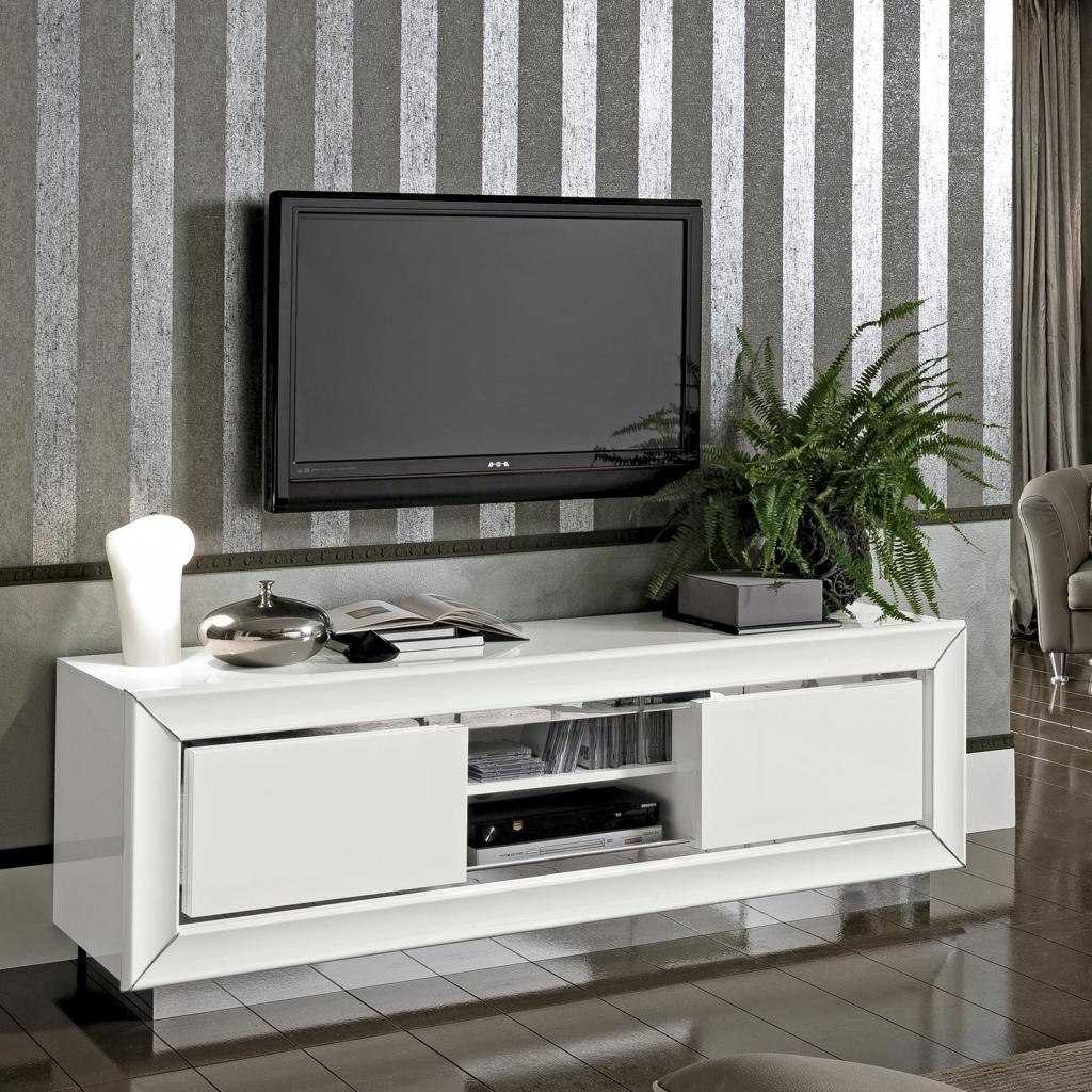 Widely Used White High Gloss Tv Unit In Bianca White High Gloss Tv Cabinet : F D Interiors Ltd (View 11 of 20)