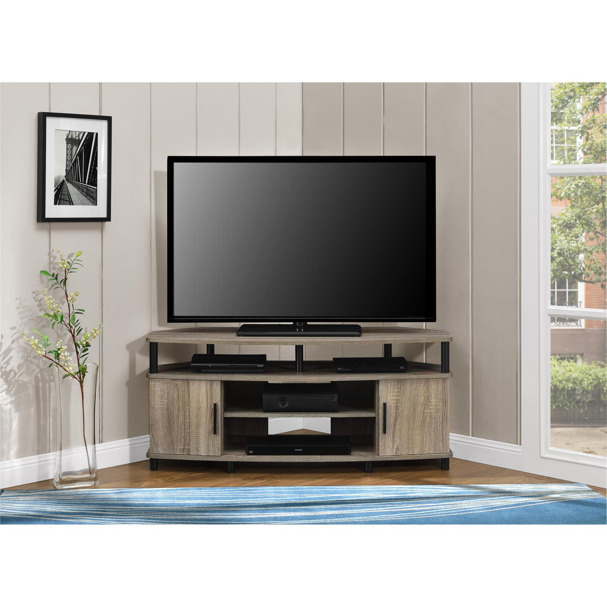 Widely Used Wooden Tv Stands For 50 Inch Tv For Shop Ameriwood Home Carson 50 Inch Sonoma Oak Corner Tv Stand – Free (View 4 of 20)