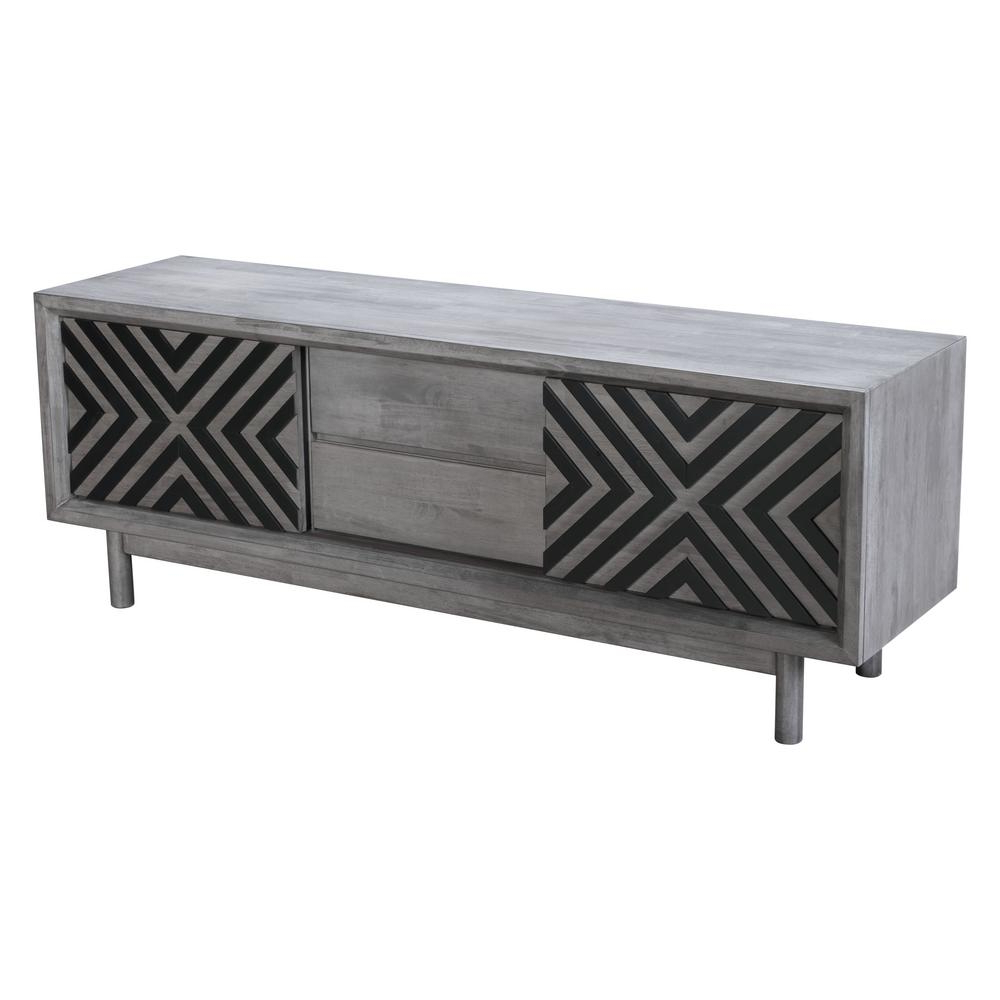 Widely Used Zuo Raven Old Gray Tv Stand 100971 – The Home Depot In Raven Grey Tv Stands (Gallery 1 of 20)