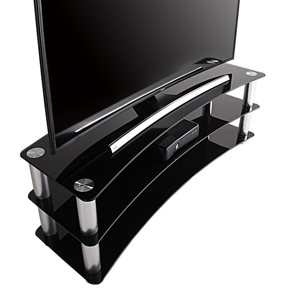 Willa 80 Inch Tv Stands With Popular Universal Glass Tv Stand For 24 35 40 42 Up To 46 Inch Samsung Vizio (Gallery 9 of 20)