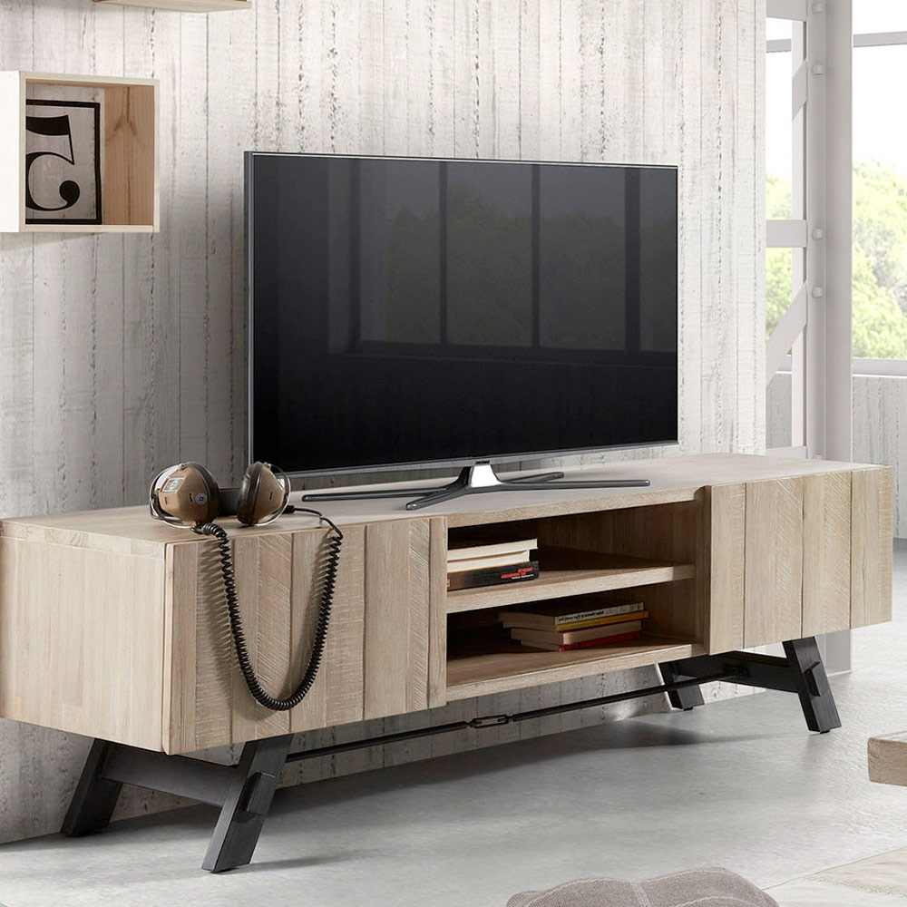 Wood And Metal Tv Stands In Trendy Modern Design Wood And Metal Tv Stand Easy (View 13 of 20)