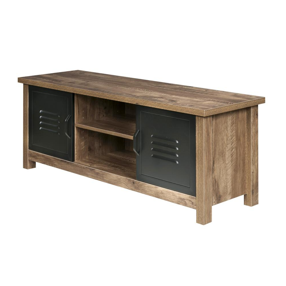 Wood And Metal Tv Stands Regarding Recent Onespace Norwood Range Tv Stand Entertainment Center, Wood & Black (View 15 of 20)