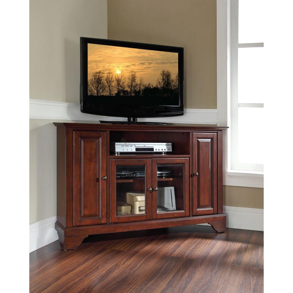Wood Tv Floor Stands Throughout Latest Crosley Lafayette Mahogany Entertainment Center Kf10006bma – The (View 10 of 20)