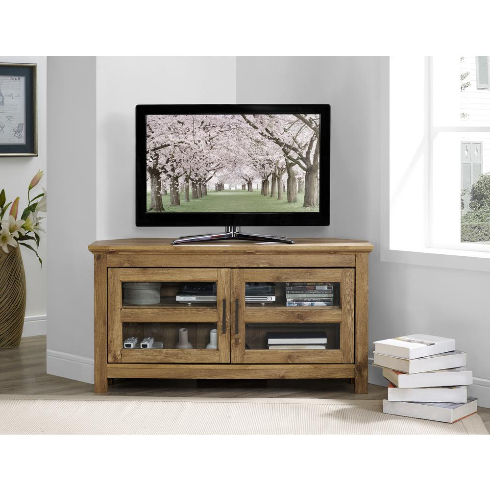 Wooden Corner Tv Cabinets Within Latest Walker Edison Furniture Company 44 In (View 20 of 20)