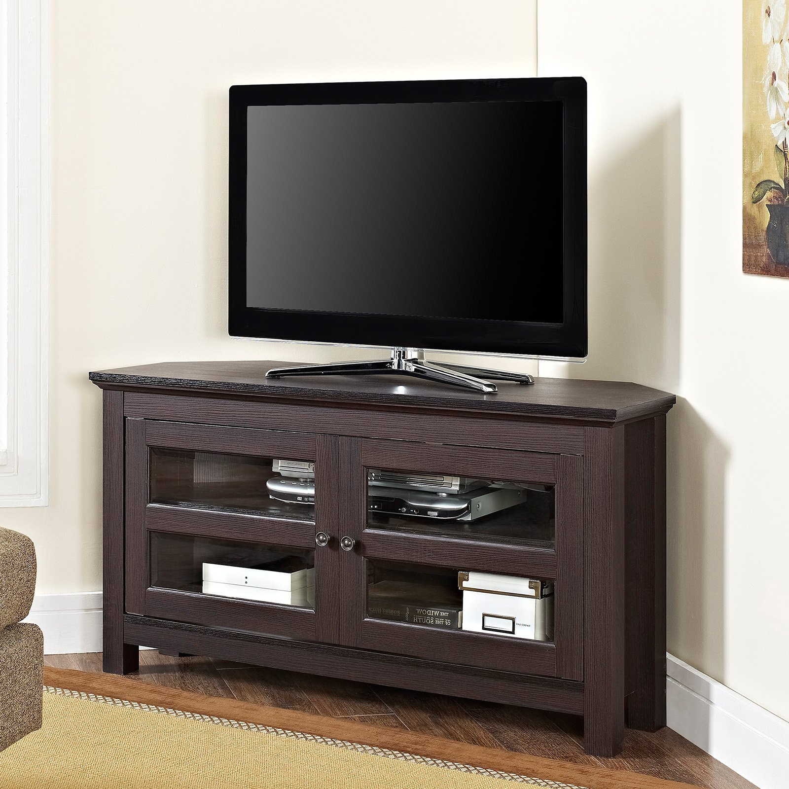 Wooden Corner Tv Stands With Most Recent Manor Park 44 In (View 18 of 20)