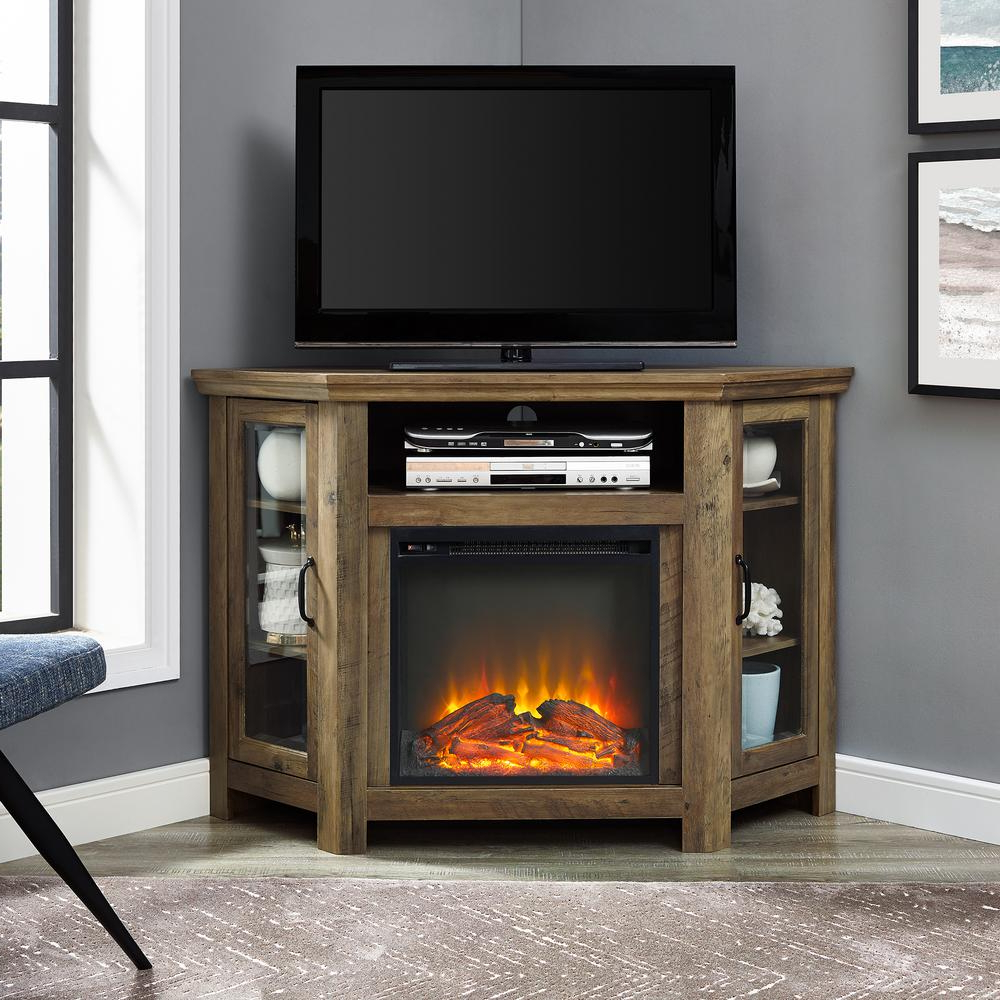 Wooden Corner Tv Stands Within Most Recently Released Walker Edison Furniture Company 52 In (View 20 of 20)