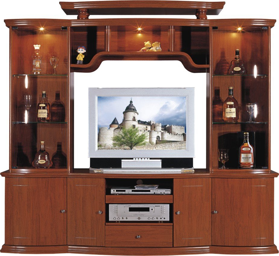 Wooden Television Stands And Cabinets – Image Cabinets And Shower Inside Most Current Wooden Tv Stands With Glass Doors (View 18 of 20)