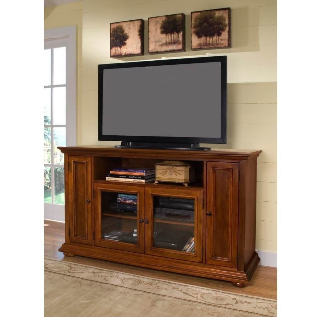 Wooden Tv Cabinets With Glass Doors Regarding Favorite Furniture: Fine Wooden Tall Corner Tv Stands For Flat Screen (View 9 of 20)