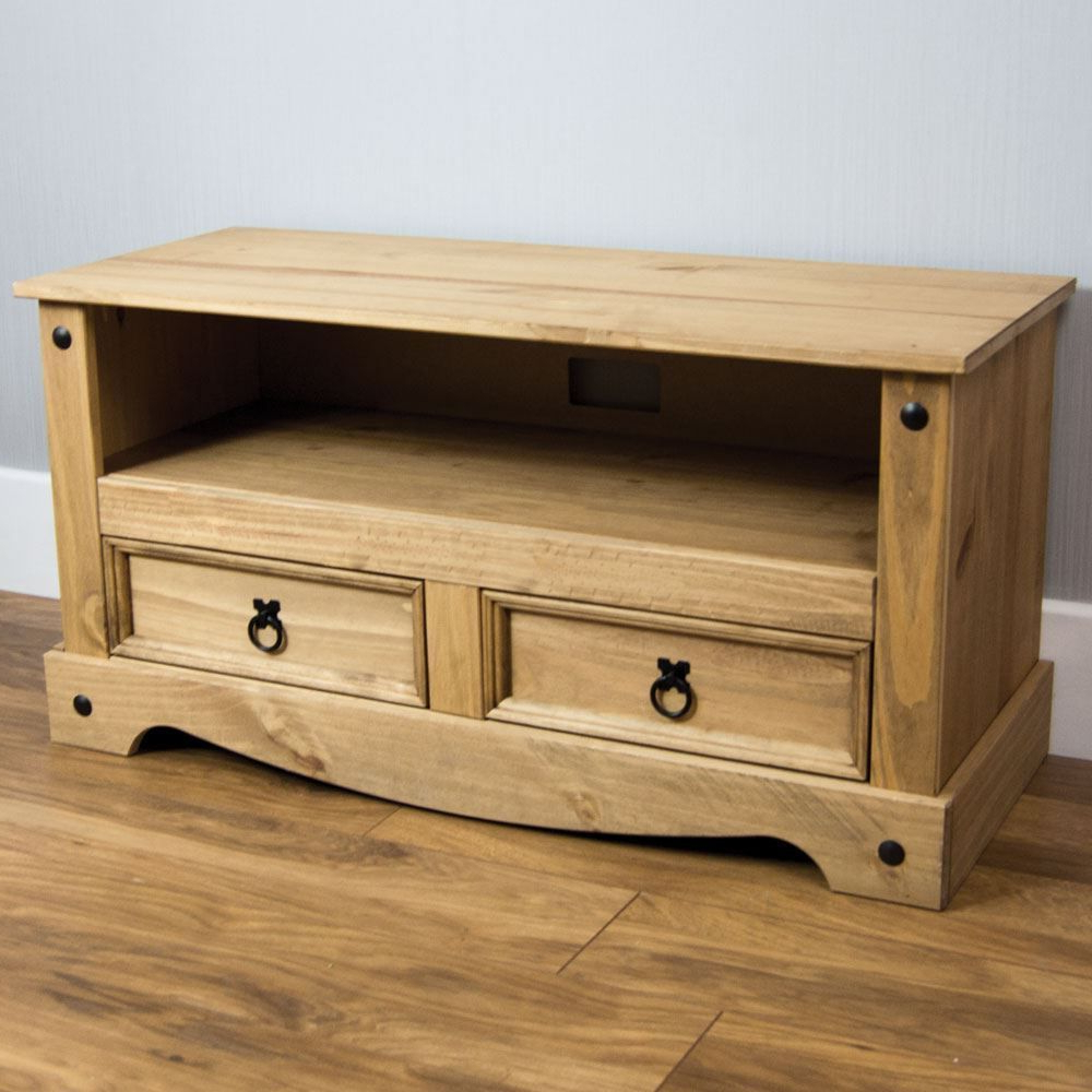 Wooden Tv Stand Classic Furniture Living Room Cabinet Solid Pine In Latest Pine Tv Cabinets (View 8 of 20)