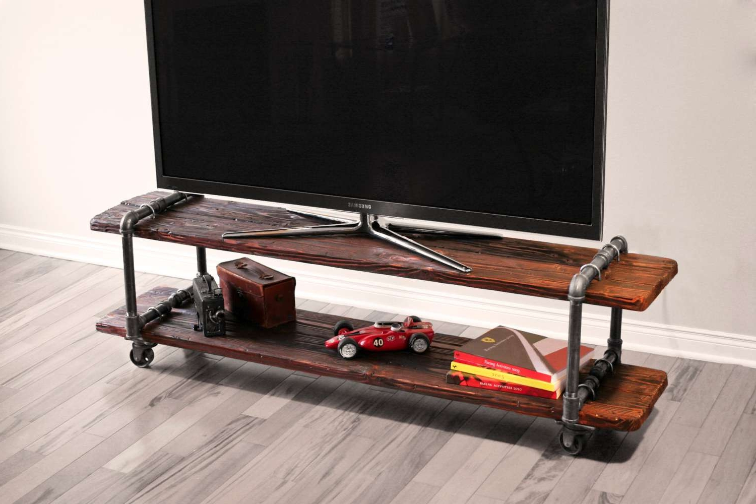 Wooden Tv Stand With Wheels Throughout Favorite Mean Work Woodworking Projects Tv Stand Diy Plans Homemade Wood (View 19 of 20)