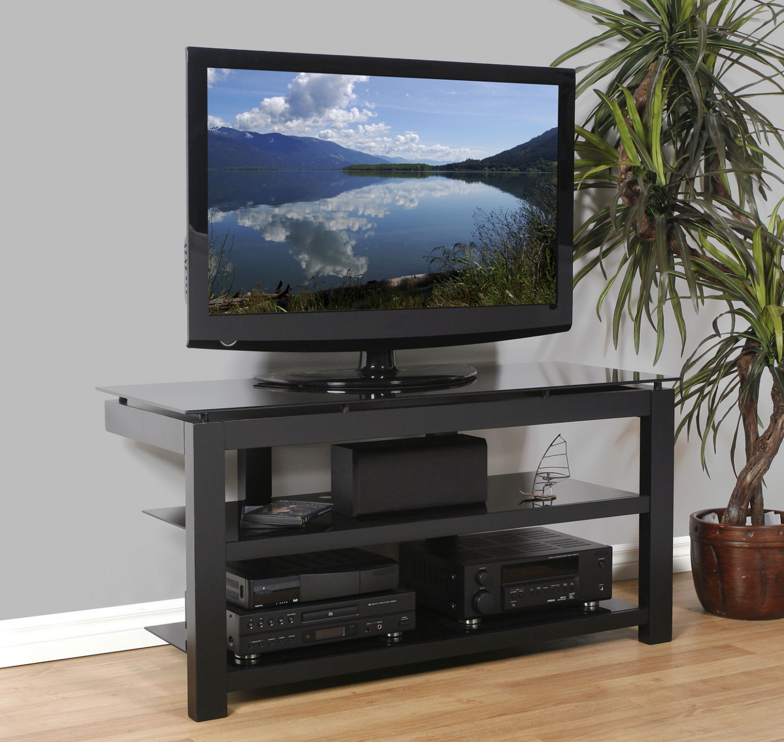 Wooden Tv Stands For 50 Inch Tv With Regard To Most Current Natural Wood Tv Stand — Rabbssteak House (View 10 of 20)
