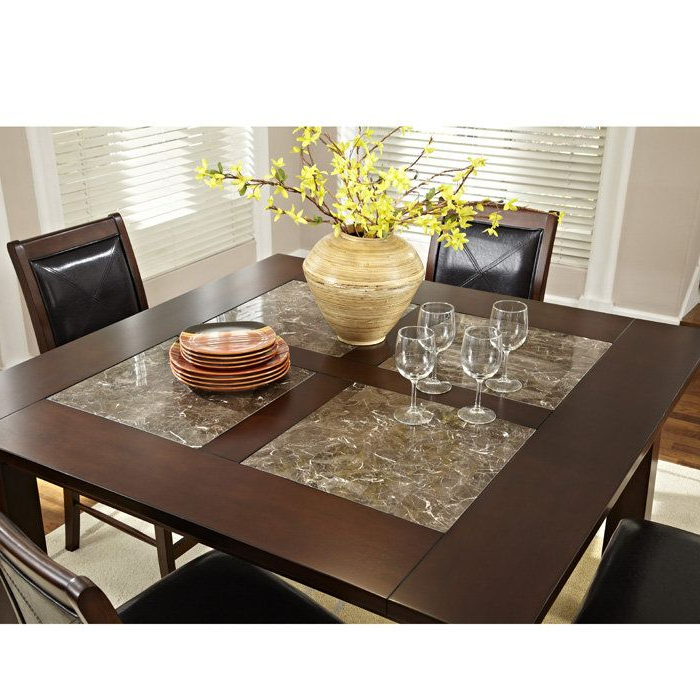 """2017 $560 Granita 54"""" Counter Height Dining Table With Granite Inlays In Castellanos Modern 5 Piece Counter Height Dining Sets (View 1 of 20)"""